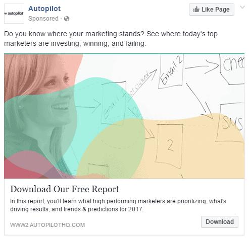 Autopilot retargets visitors with content ads