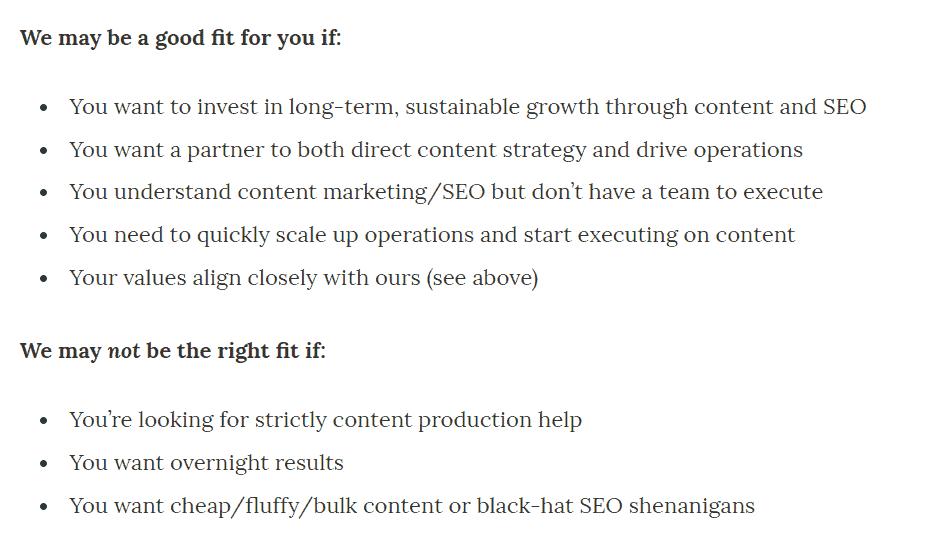 Optimist client qualification information